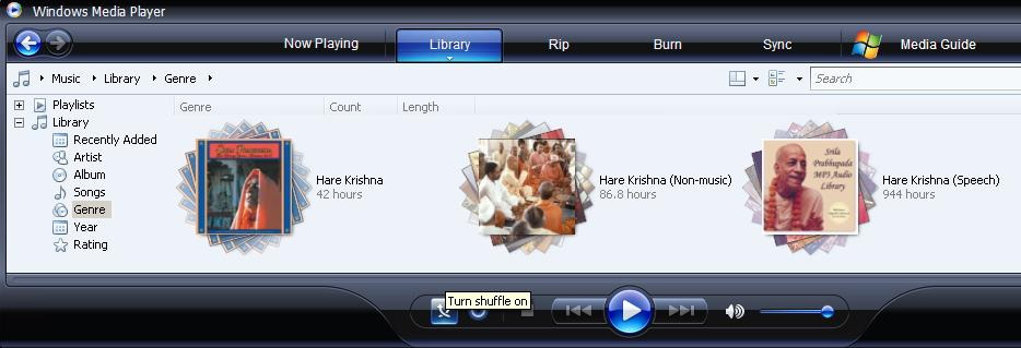 Windows Media Player 11 Screen Shot